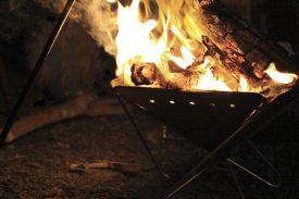 火を見る時間の写真
